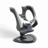 China Mobile Phone Holder Comes in Black and Silver Color, Made of Soft Material factory