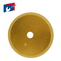 Buy cheap 125 Mm Vacuum Brazed Diamond Blades Yellow Color Integral Structure High Speed from Wholesalers