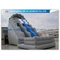 China Kids / Adults Double Inflatable Water Slide With Small Pool For Summer Games factory