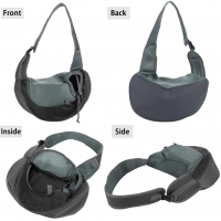 China grey Sling Outdoor Waist Pack For Chihuahua Puppy S-L Size factory