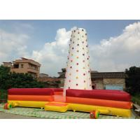 China Children Inflatable Climbing Mountain 9 X 9 X 8m white inflatable rock climbing wall with fence around on sale