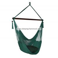 Buy cheap Large Porch Garden Hanging Hammock Chair With Footrest Stand Outdoor Forest Green from Wholesalers