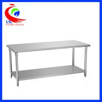 China Resturant stainless steel food preparation tables / stainless steel workbenches factory