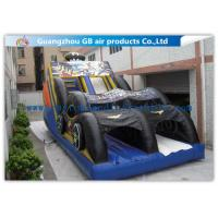 China Funny Bat Backyard Water Slide Inflatable , Bounce House Water Slide For Kids factory