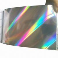 China Hologram Film, Made of BOPP/PET, 12 to 50µ Thickness, Below 1000mm Width, Used for Packing/Gift factory