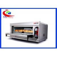 China Commercial Break Bakery Equipment Electric Selling Pizza Oven  With One Deck Double Pans factory