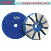 """China 3"""" Metal Bond 10 Segments Diamond Pucks Covering 3 Bonds From Soft To Hard With Quick Change System Dry Or Wet factory"""