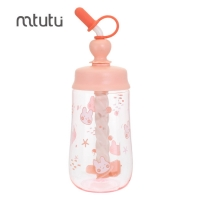 China Pink 450ml 115g Shaker Water Bottle For Drinking factory