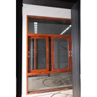 China Red Brown Floor Large Glass Window With Aluminium Frame Horizontal Open factory