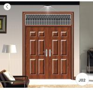 Buy cheap J02 Zinc Alloy Steel Twin Doors / Residential Steel Security Doors from wholesalers