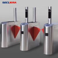 China Face Recognition Pedestrian Control Electronic Flap Barrier Gate/ Acrylic Counter Turnstiles factory