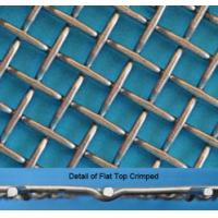 China Stainless Steel Flat Top Crimped Wire Mesh, 4-60mm Opening, 1.6-5mm Wire factory