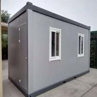 China waterproof and fireproof empty layout 20ft sandwich panel container house for 8 workers factory