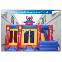China Funny Safety Childrens Inflatable Bouncy Castle With Slide Combo Customized factory