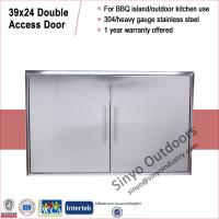 """Buy cheap 304 Stainless Outdoor BBQ Island Access Double Door 39"""" Flush Mount from Wholesalers"""