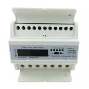 LCD Display Din Rail KWH Meter , 3 phase power meter kwh Active Energy Measurement