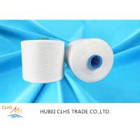 60/3 Raw White 100% Virgin Polyester Spun Yarn With Dyeing Tube,1.25kg / Cone