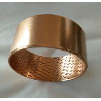 China Wrapped bronze sliding bearing with lubrication pockets Low-maintenance DIN 1494 / ISO 3547 factory