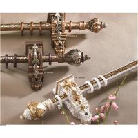 China Classical delicate PP plastic curtain rod finials for home decoration on sale