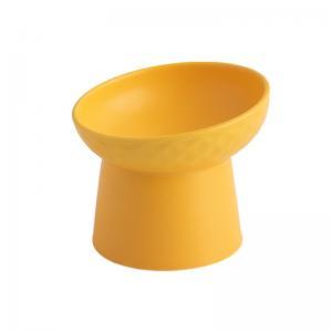 China Matte Ceramic Neck Protection Cat Feeding Bowl Customized Design factory