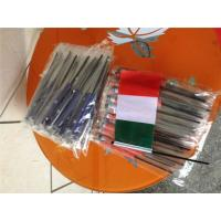 Buy cheap Digital Printing Knitted Custom Hand Waving Flags With Plastic Poles from Wholesalers