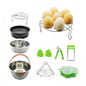 China 10 Pcs Kitchen Accessories for 5,6,8 Qt, Steamer Basket Egg Rack Springform Pan Silicone Pot Holder Egg Bites Mold with recipe on sale
