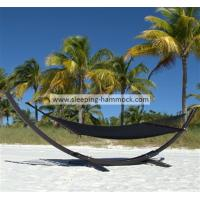 Buy cheap Outside Cool Palm Caribbean Style Hammock , Sleeping Black Free Standing Hammock Bed from Wholesalers