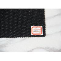 Black And White Twill Wool Fabric In Stock 580 G Per Meter With Woven Pattern