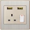 Buy cheap Usuny B72 UK Hotel usb wall socket from wholesalers