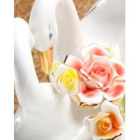 Household handicraft commercial Ceramic lovers swan of fruit sugar plate