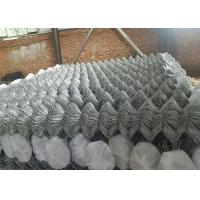 China 4 ' x 50 ' Galvanized 9 Gauge Chain Link Fence Fabric , Garden Fence Panels on sale