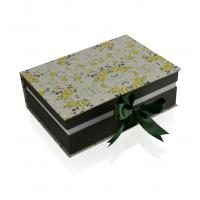 Professional Book Shaped Paper Coloured Packaging Boxes Rectangular With Ribbon