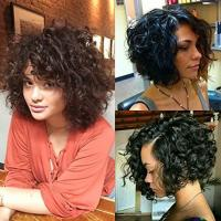 China Brazilian Short Bouncy Curly Human Hair Full Lace Wigs with Baby Hair for Black Women Natural Color factory