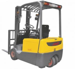 China Three Wheel Electric Forklift Truck 1 ton capacity Small Turning Radius factory
