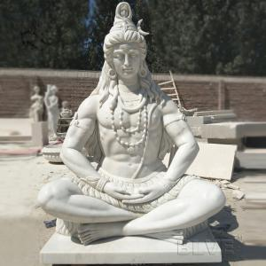 China Marble Lord Shiva Statue Buddha Sculpture Garden Hand carved Life Size India God factory