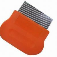 China Lice comb, handle made of plastic, stainless steel pins easily reach scalp factory
