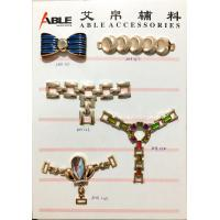Buy cheap Wholesale Metal Zinc Alloy Clothing Buckle Rhinestone Crystal Shoes Decoration Accessories from Wholesalers