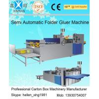 Buy cheap Easy Operation Semi Automatic Gluing Machine Carton Gluer For 260mm Paperboard from Wholesalers