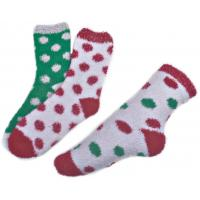 Buy cheap Polka dot pattern ,Aloe Infused SPA Socks polyester plush therapy spa sock from Wholesalers
