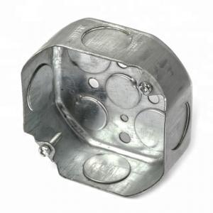 China Steel Galvanised Conduit Box , Metal Conduit Junction Box 0.8-1.5mm Thickness factory