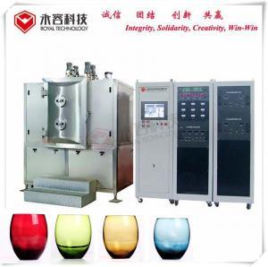 China Arc Ion Vacuum Plating Equipment Wine Glass Bottles TiN Gold Coating on sale