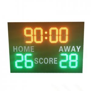 China Front Maintenance LED Football Scoreboard With Deep - Set Frame 110V ~ 220V factory