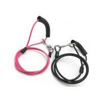 China 1.8 - 2.0mm Spring Hook Pet Tie Out Cable , Stainless Steel Dog Training Leash factory
