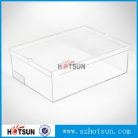 China Hot sale clear transparent sport shoes sneaker acrylic display boxes factory