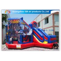 China Commercial Spiderman Inflatable Bouncy Castle Kids Inflatable Bouncer With Slide factory