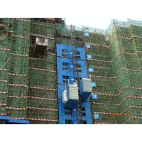 Buy cheap VFD Motor Control 36 M / Min Material Rack And Pinion Elevator from wholesalers