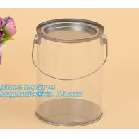China 100ml pet clear plastic can,fruit candy tin container jars with aluminum lid,1 gallon clear paint can size bagease pack factory