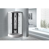 Buy cheap Matt Silver Profiles Curved Glass Shower Enclosures , Enclosed Shower Cubicles from Wholesalers