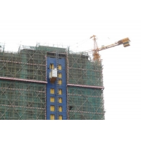 China Painted 3000 KG Rack And Pinion Lift Cage Hoist In Construction factory