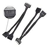 Buy cheap 15 Pin 2 Pack SSD Accessories , SATA Power Cable Splitter 15cm For Hard Drives from Wholesalers